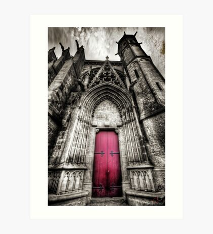 Carcassonne Cathedral Art Print