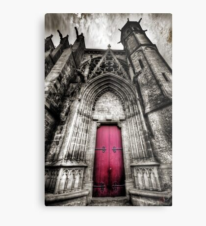 Carcassonne Cathedral Metal Print