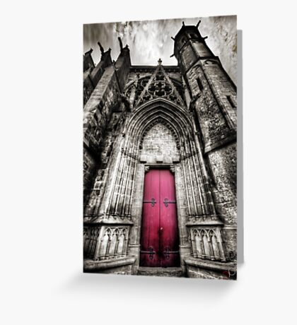 Carcassonne Cathedral Greeting Card