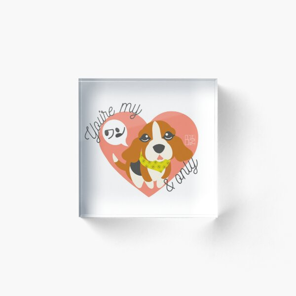 You're My ワン and Only Beagle Acrylic Block