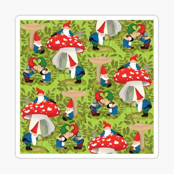 Vintage garden gnomes Sticker