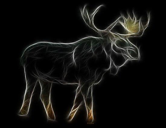 Medicine Wheel Totem Animals by Liane Pinel-Moose by Liane Pinel
