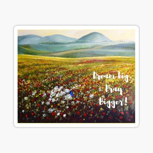 Dream Big Art of Israel by American Artist Hilary J England Sticker