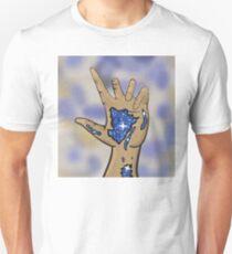 Galaxy in hand Unisex T-Shirt