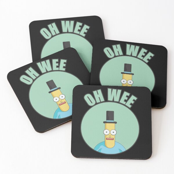 Mr Poopybutthole Oh Wee Coasters (Set of 4)
