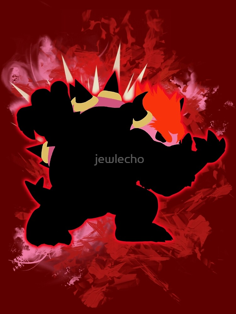 Super Smash Bros. Red Bowser Silhouette by jewlecho