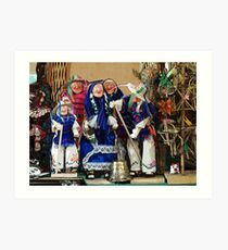 Old peoples' dance Art Print