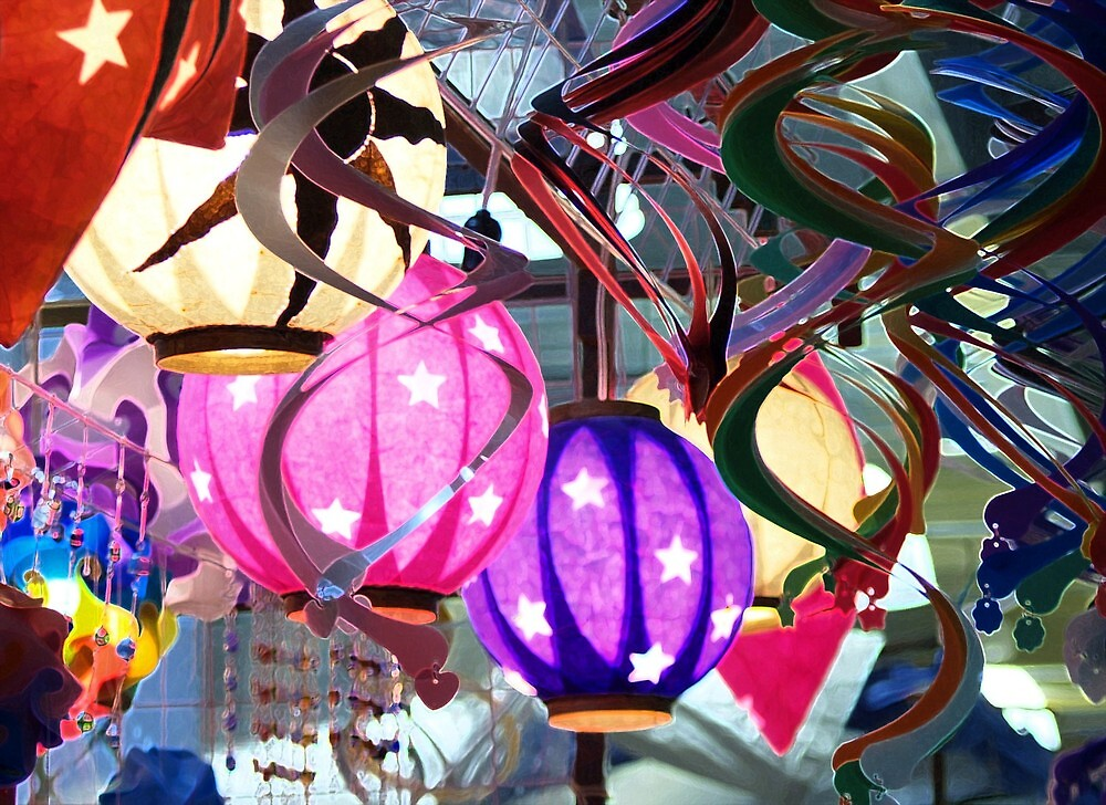 Paper lanterns by Shirley  Poll