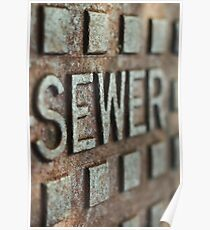 sewer drain Sunrise Beach  Poster