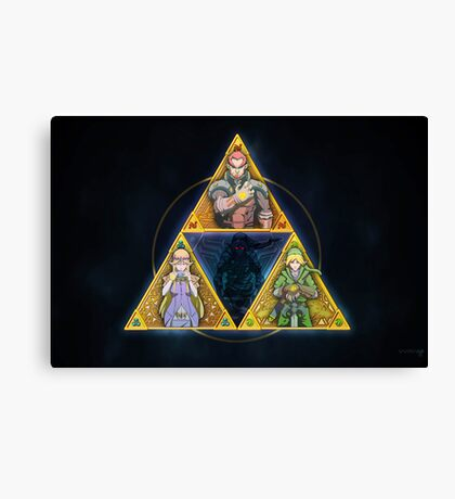 The Triforce... and a bit of darkness Canvas Print