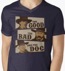 The Good, The Bad, And The Doc Men's V-Neck T-Shirt