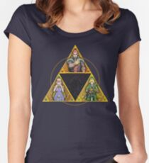 The Triforce... and a bit of darkness Women's Fitted Scoop T-Shirt