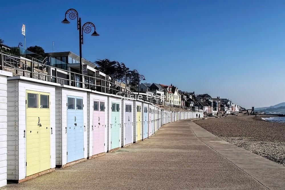 Beach Huts At Lyme Regis by Susie Peek