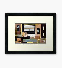 Black and Tan Framed Print