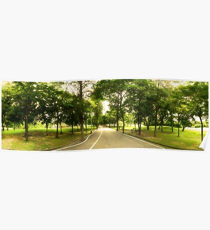 Path Less Traveled - Park Panorama Poster