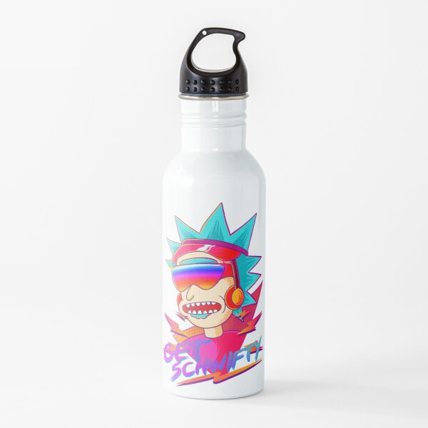 get schwifty Rick and Morty retro Water Bottle