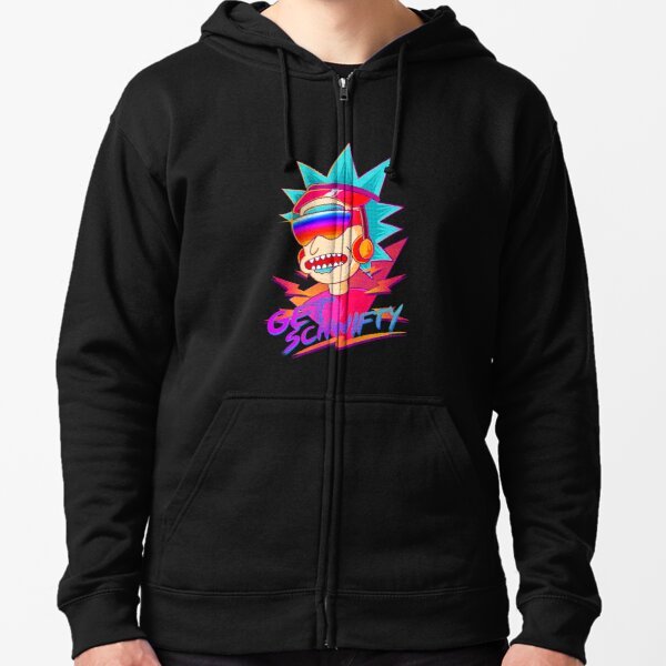 get schwifty Rick and Morty retro Zipped Hoodie