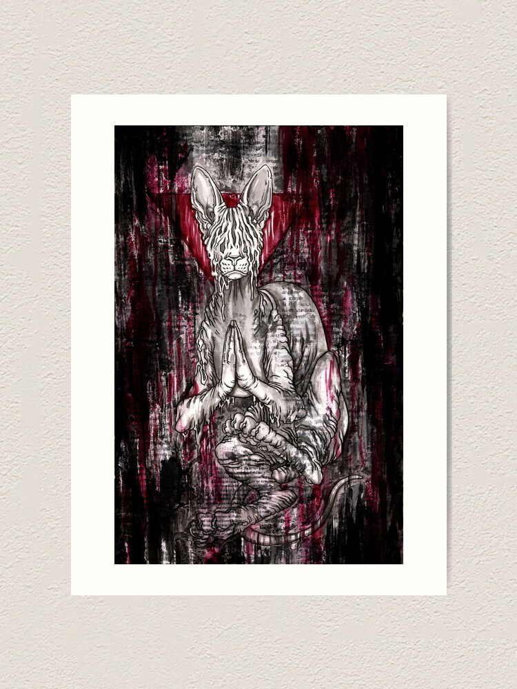 Alternate view of RED ALL OVER Art Print