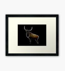 Medicine Wheel Totem Animals by Liane Pinel- Elk Framed Print