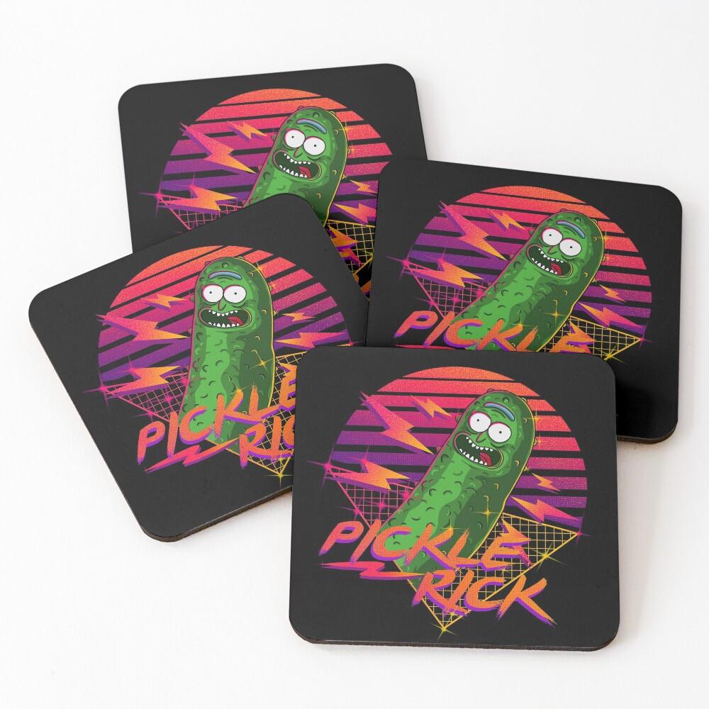 pickle rick  Coasters (Set of 4)