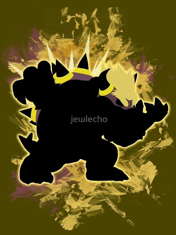 Super Smash Bros Yellow Bowser Silhouette by jewlecho