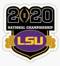 LSU Tigers National Championship emblem Sticker