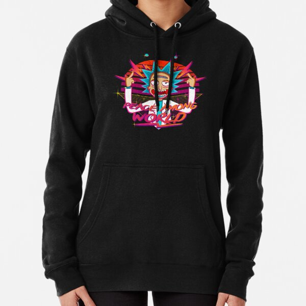 peace among world rick and morty retro  Pullover Hoodie