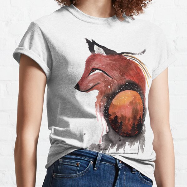 Tetrad the Bloodmoon Fox  Classic T-Shirt