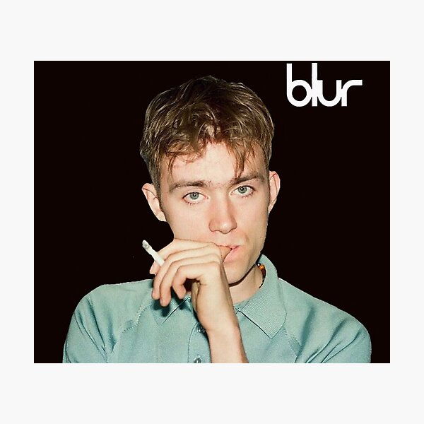 Damon albarn blur (black background) Photographic Print