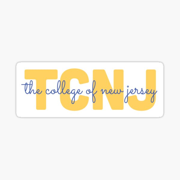 tcnj cursive Sticker