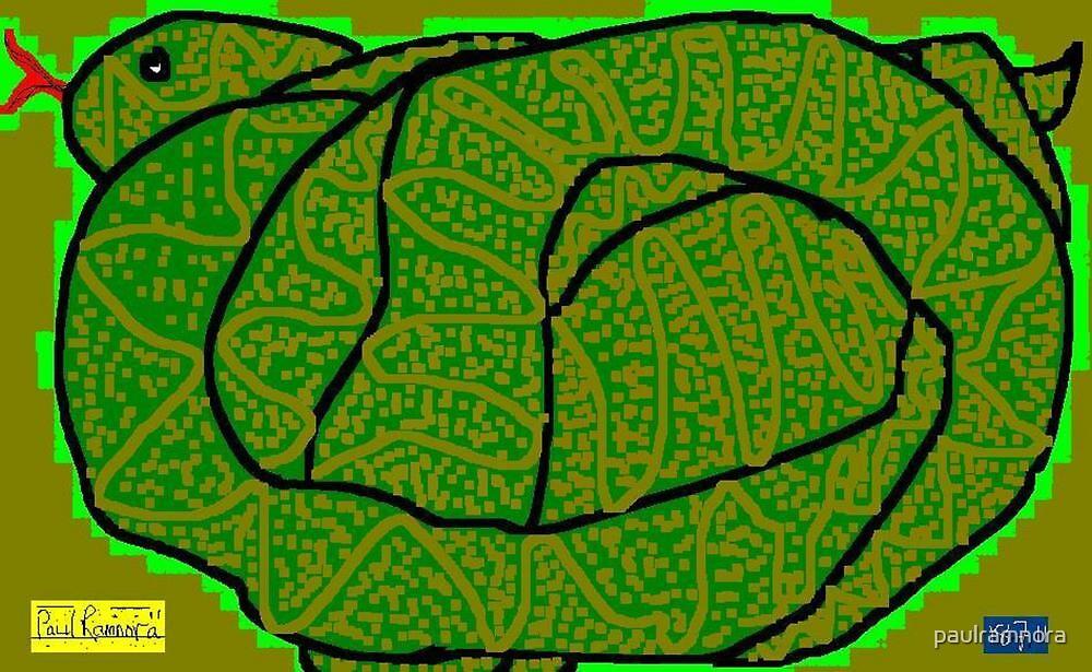 Snake -(180711)- Digital artwork/MS Paint by paulramnora