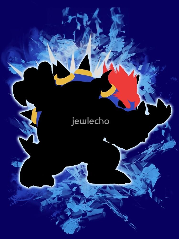 Super Smash Bros. Blue Bowser Silhouette by jewlecho