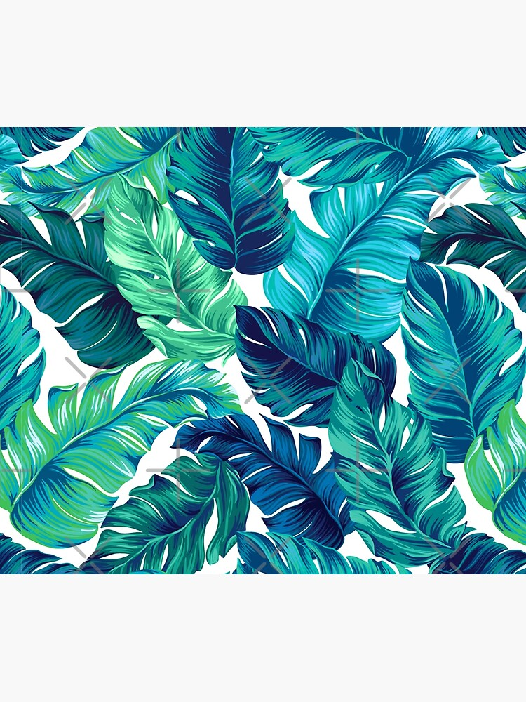 turquoise and green tropical leaves by features2018