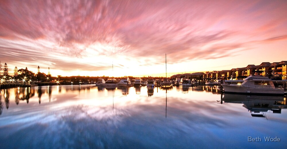 Harbour Reflections - Raby Bay, Cleveland Qld by Beth  Wode