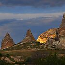 Fairy Chimneys and Mountain by Peter Hammer