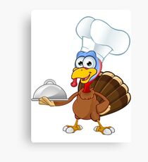 Thanksgiving Turkey Character Canvas Print
