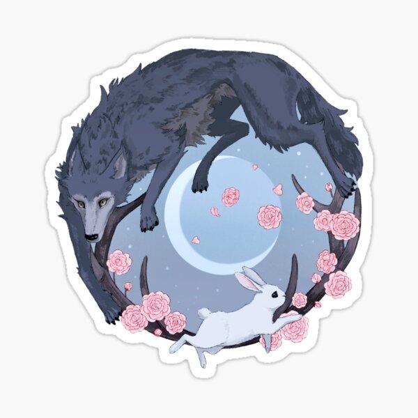 Rabbit and Wolf Sticker