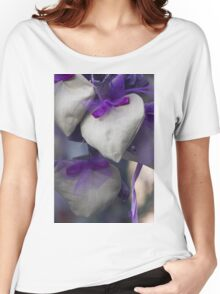 lavender hearts Women's Relaxed Fit T-Shirt