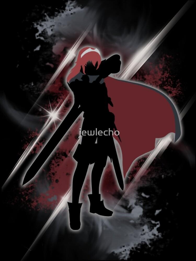 Super Smash Bros. Black/Red Lucina Silhouette by jewlecho