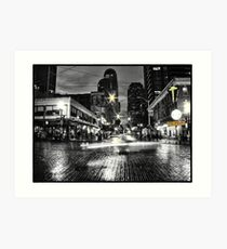 Historic District in Seattle Art Print