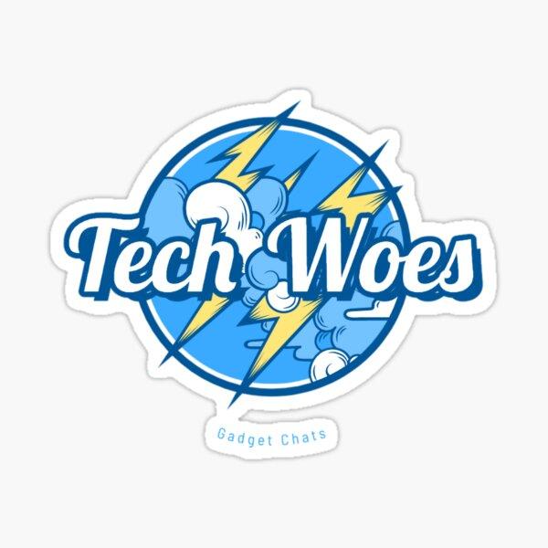 Tech Woes - Blue Sticker