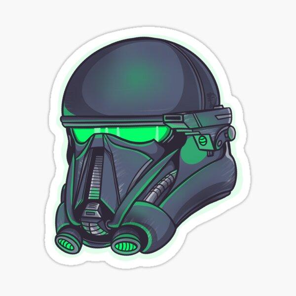 Glowing Death Trooper Helmet  Sticker