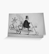 Edwardian Mobility Scooter Greeting Card