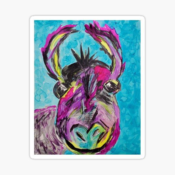 Moose the Burro  Sticker