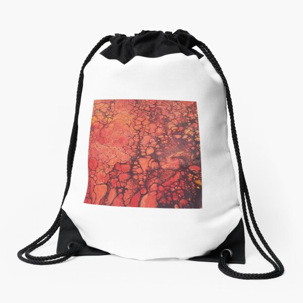 Lava Flow Drawstring Bag