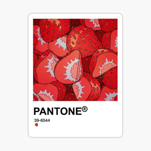 Pantone kawaii food fraise Sticker