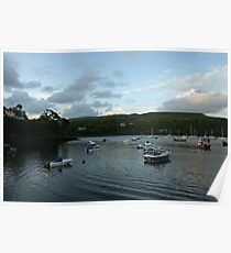 Portree Harbour in the evening. Poster