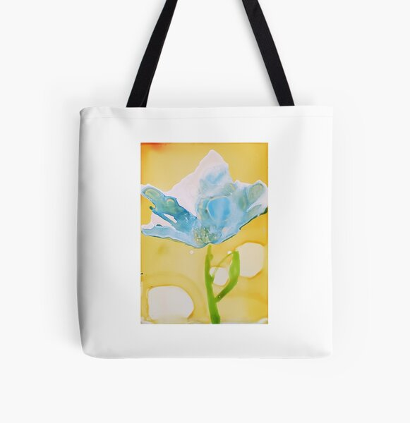 Blue Bloom All Over Print Tote Bag
