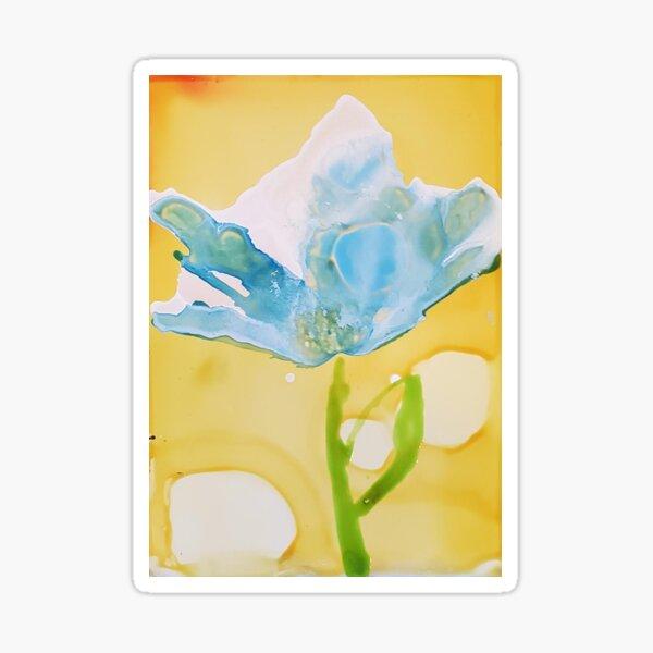 Blue Bloom Sticker