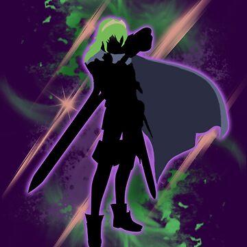 Super Smash Bros. Green/Purple Lucina Silhouette by jewlecho